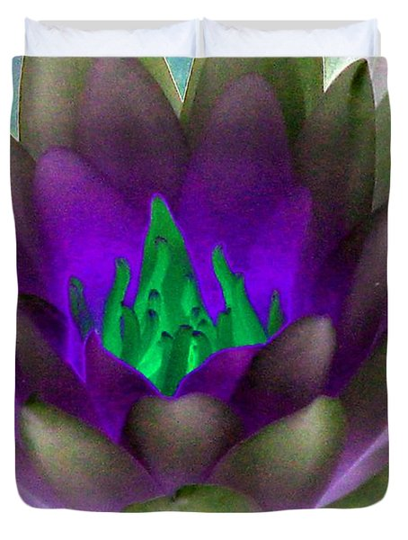 Duvet Cover featuring the photograph The Water Lilies Collection - Photopower 1117 by Pamela Critchlow