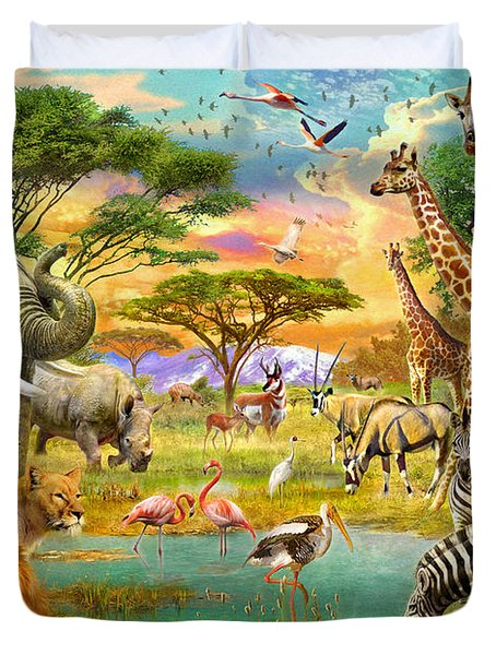 The Watering Hole Duvet Cover by Jan Patrik Krasny