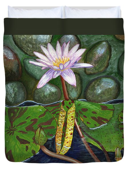 The Waterlily Duvet Cover by Laura Forde