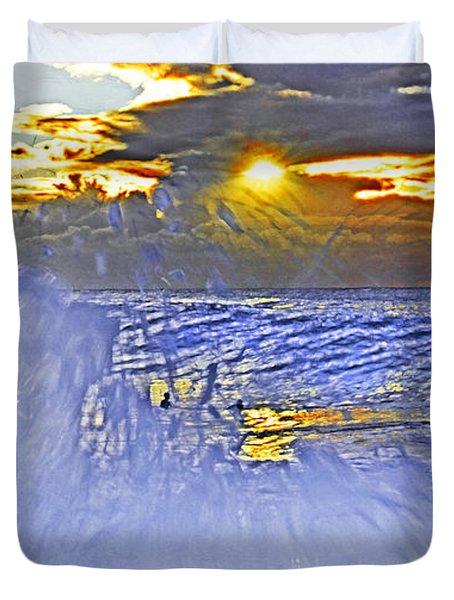 The Wave Which Got Me Duvet Cover by Miroslava Jurcik