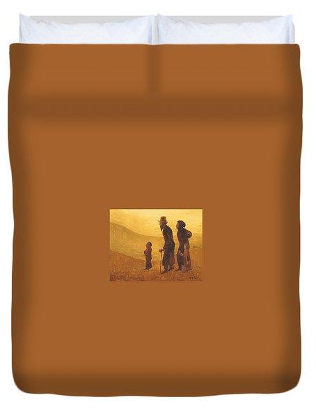 The Way - Aliyah Duvet Cover by Israel Tsvaygenbaum