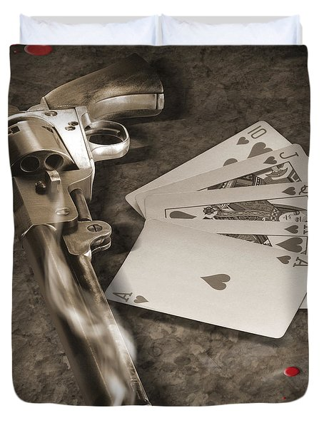 The Way Of The Gun Part 1 Duvet Cover by Mike McGlothlen