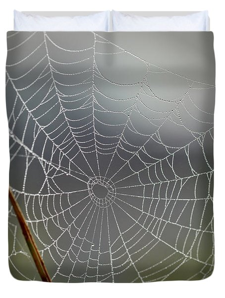 The Web Duvet Cover by Kerri Farley