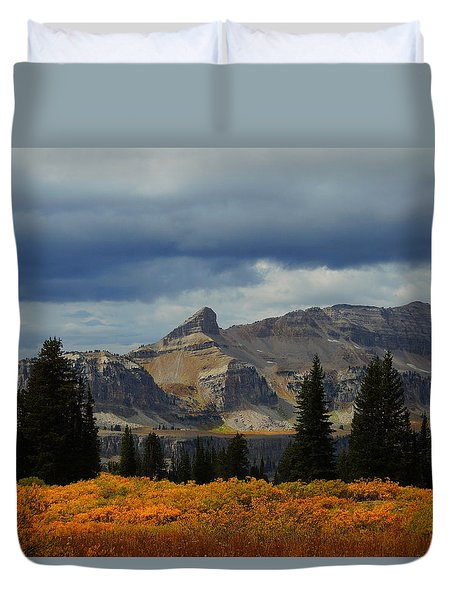 Duvet Cover featuring the photograph The Wedge by Raymond Salani III