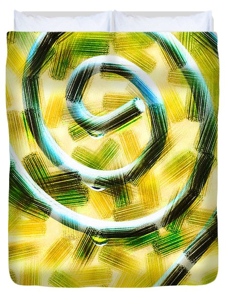 The Wet Whirl  Duvet Cover by Steve Taylor