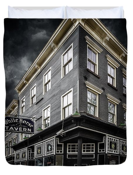 The White Horse Tavern Duvet Cover