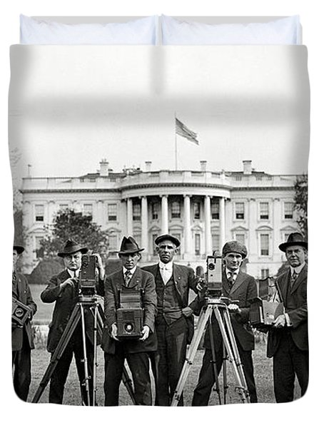 The White House Photographers Duvet Cover by Jon Neidert