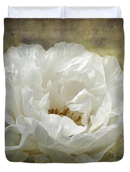 The White Peony Duvet Cover