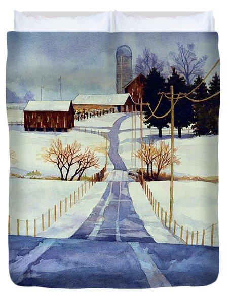 The White Season Duvet Cover