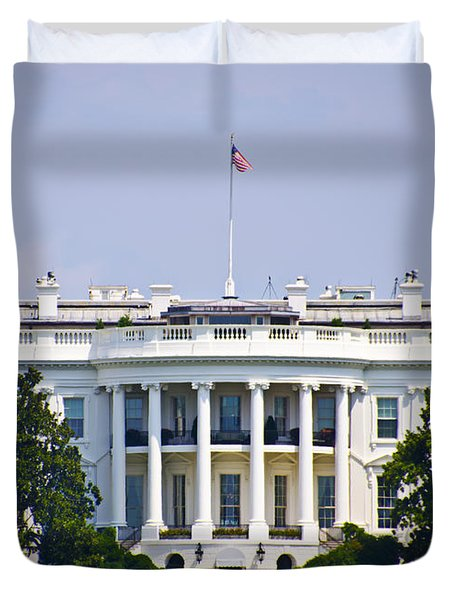 The Whitehouse - Washington Dc Duvet Cover by Bill Cannon