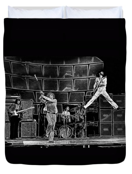 The Who - A Pencil Study - Designed By Doc Braham Duvet Cover
