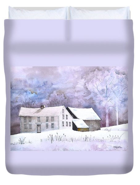 The Wilder Homestead Duvet Cover by Sally Rice