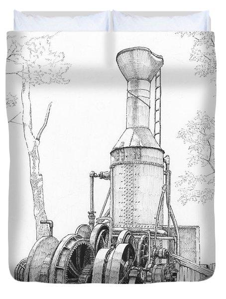 The Willamette Steam Donkey Duvet Cover