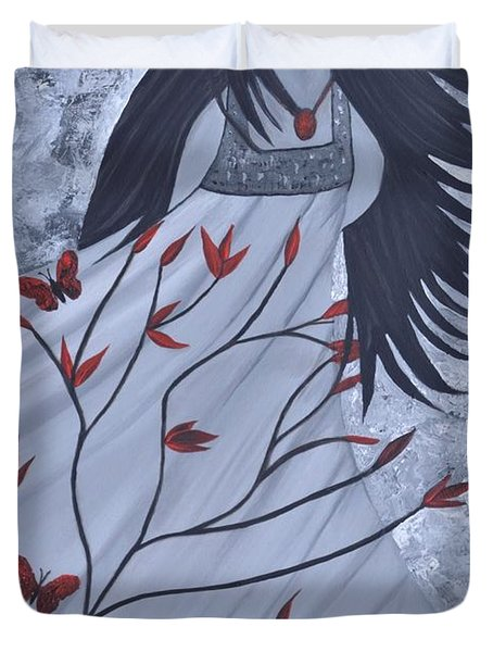 The Wind Of The Spirit Acrylic Painting By Saribelle Rodriguez Duvet Cover by Saribelle Rodriguez