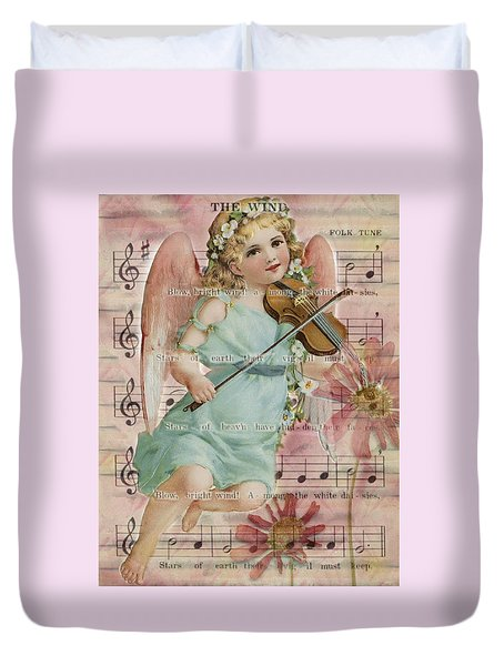 Duvet Cover featuring the photograph The Wind  by Sandra Foster