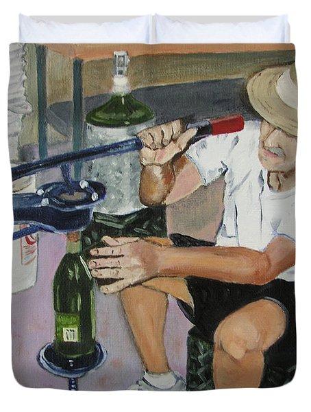 The Wine Maker Duvet Cover
