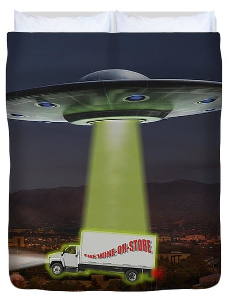 The Wine-oh-store Duvet Cover by Mike McGlothlen
