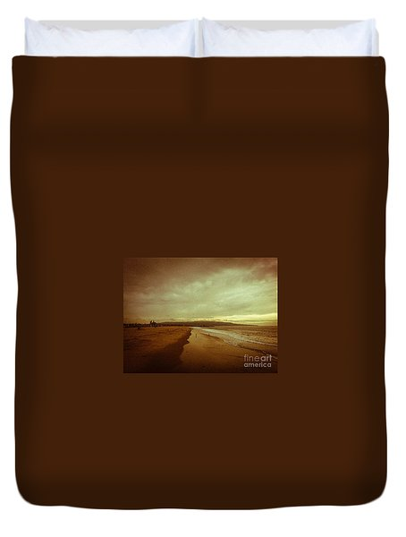 The Winter Pacific Duvet Cover by Fei A
