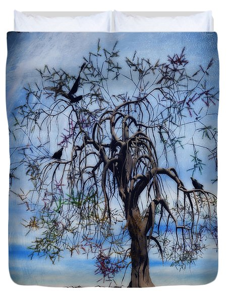 The Wishing Tree Duvet Cover by John Edwards