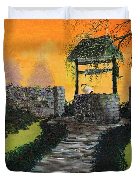 The Wishing Well Duvet Cover by David Kacey