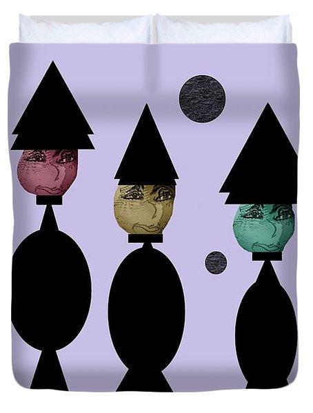 The Witch Club Duvet Cover by Ann Calvo