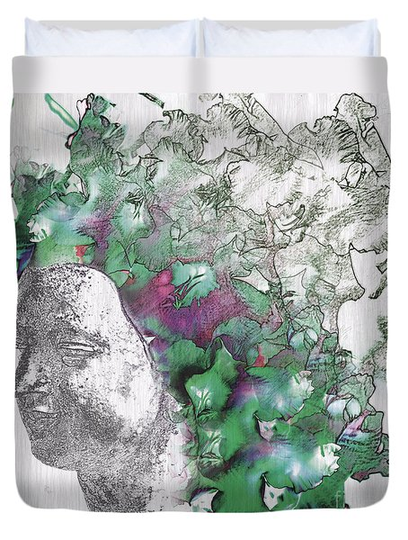 The Woman From Yes Duvet Cover by Nola Lee Kelsey