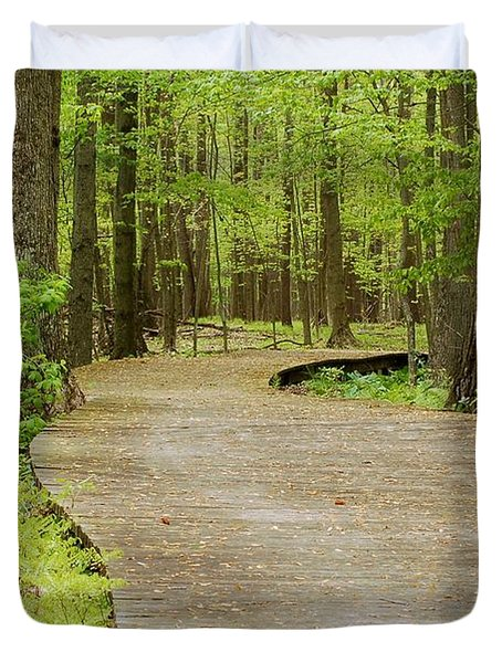 The Wooden Path Duvet Cover