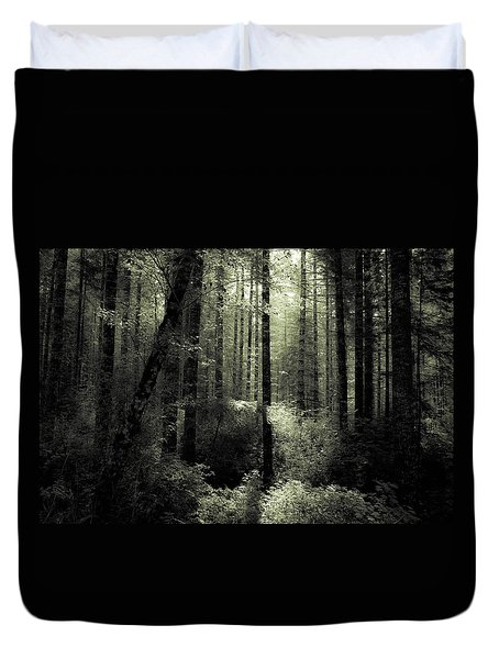 Duvet Cover featuring the photograph The Woods by Katie Wing Vigil