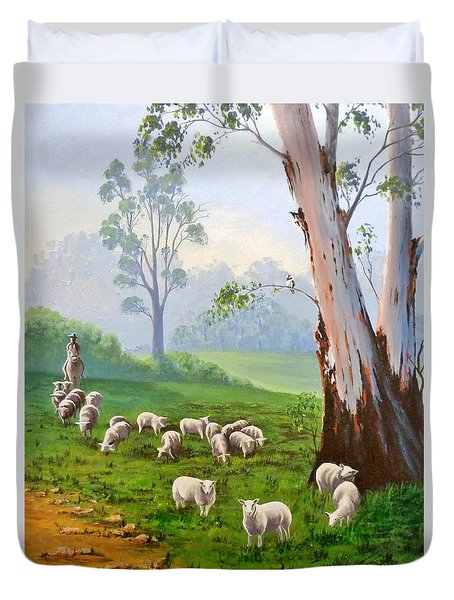 The Wool Road Duvet Cover by Anne Gardner