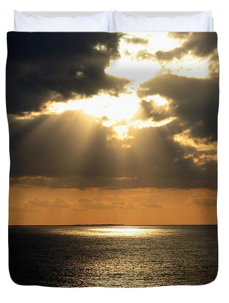 Key West Sunset The Word Duvet Cover