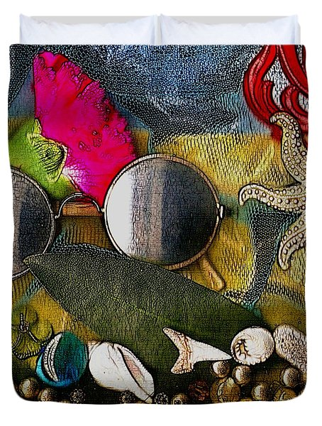 The World Is So Wonderful A Must See Popart Duvet Cover by Pepita Selles