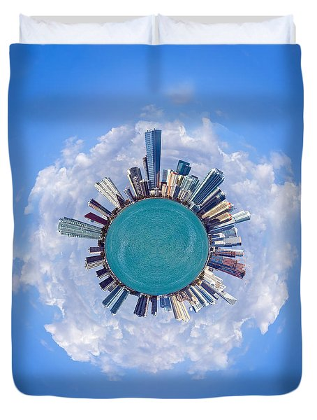 Duvet Cover featuring the photograph The World Of Miami by Carsten Reisinger