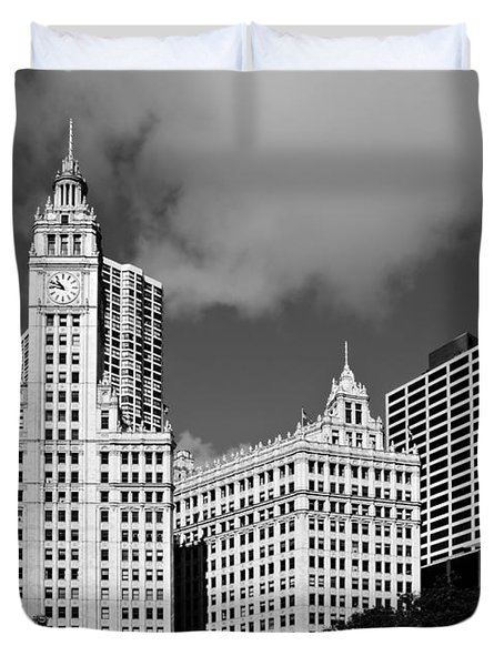 The Wrigley Building Chicago Duvet Cover by Christine Till