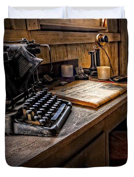 The Writer's Desk Duvet Cover