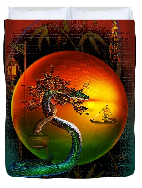 The Year Of The Snake Duvet Cover by Shadowlea Is