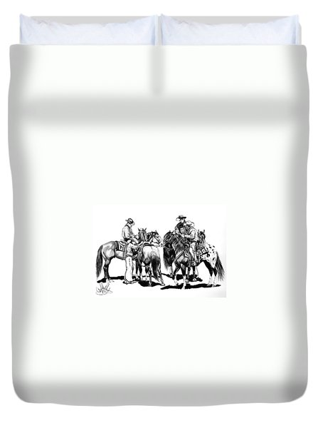 The Youngster Duvet Cover by Cheryl Poland