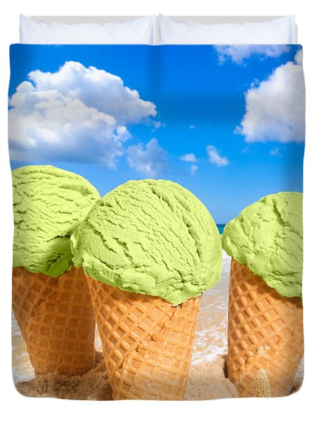 Thee Minty Icecreams Duvet Cover