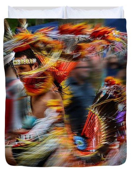 Their Spirit Is Among Us - Nanticoke Powwow Delaware Duvet Cover