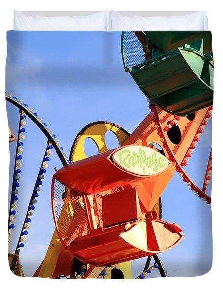 Theme Park Ride Duvet Cover by Valentino Visentini