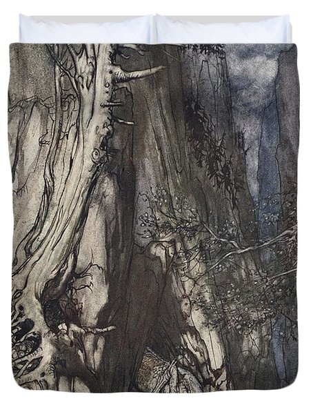 There Is A Dread Dragon He Sojourns Duvet Cover