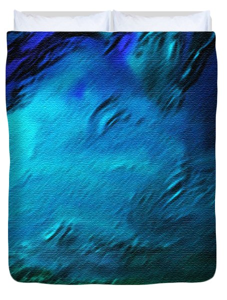 There Is Always Sky Duvet Cover by Lenore Senior