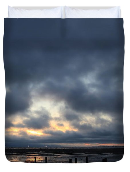 There's A Freedom In The Night Duvet Cover by Laurie Search