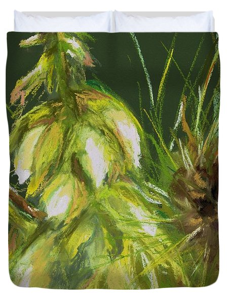 Theres A Yucca In My Yard Duvet Cover by Frances Marino