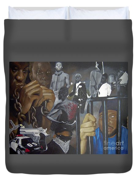 Think Black Man Duvet Cover