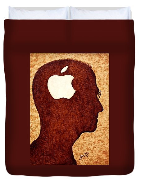 Think Different Tribute To Steve Jobs Duvet Cover