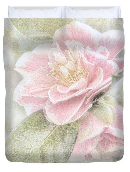 Think Pink Duvet Cover by Peggy Hughes
