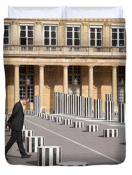 Thinking - At Palais Royal Duvet Cover by Brian Jannsen