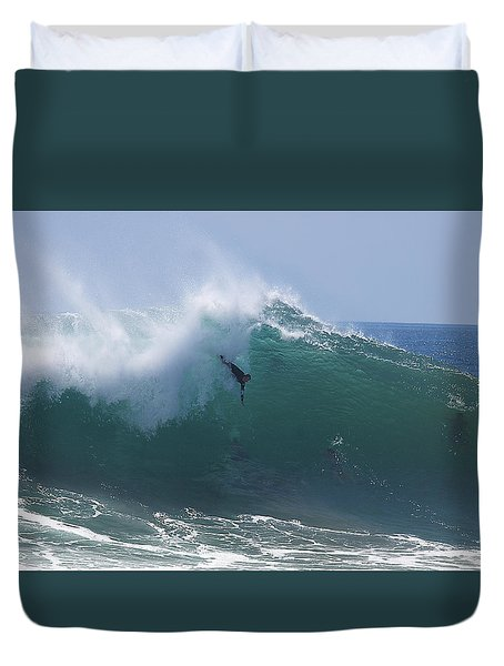 Duvet Cover featuring the photograph Thinking It Through by Joe Schofield