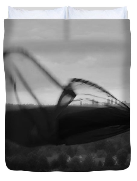 Thinking Of You Duvet Cover by Lisa Knechtel