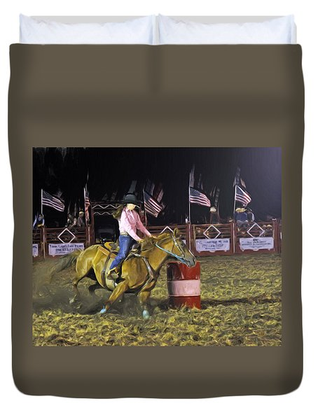 Duvet Cover featuring the photograph Third Barrel by Kenny Francis